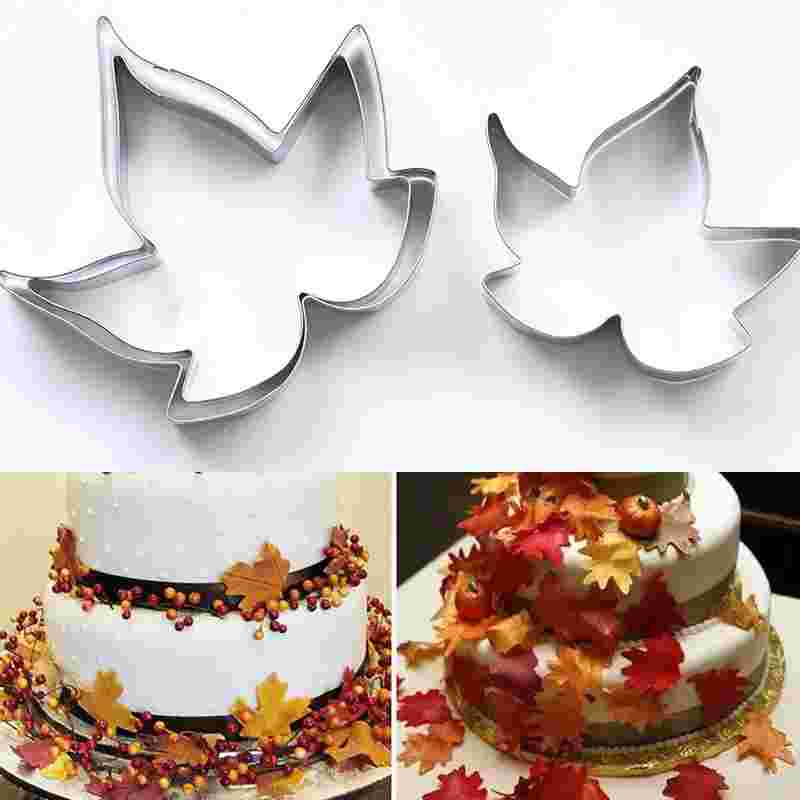 3pc Stainless Steel Maple Leaf Cookie cutter