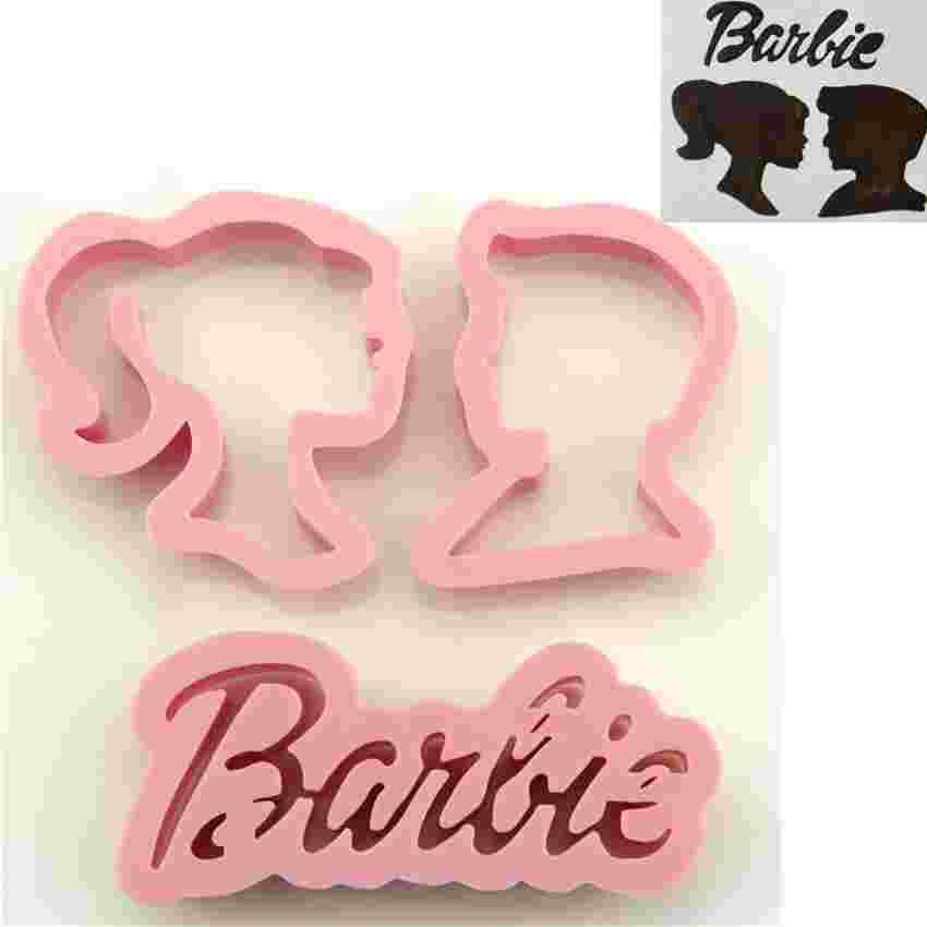 3pcs Set Family Baking Design Barbie Princess