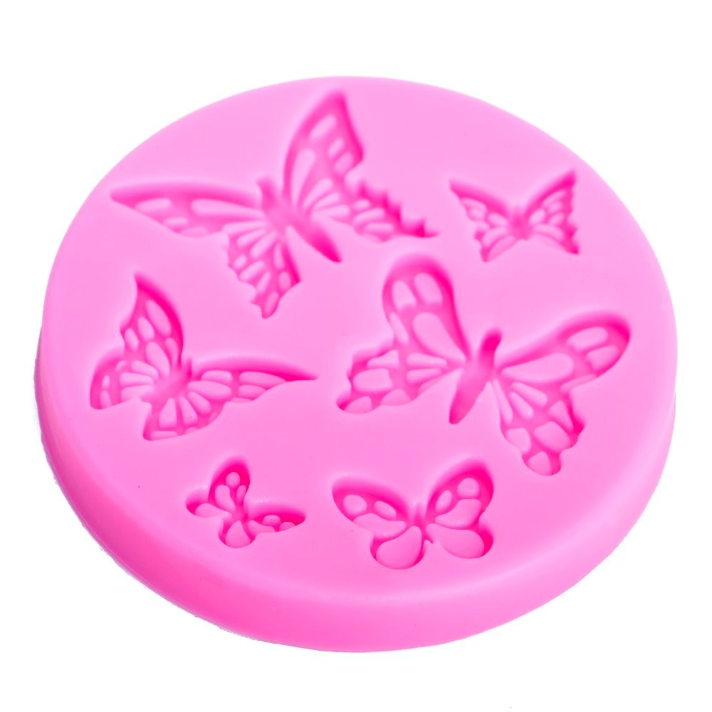 3D Butterfly Shape Silicone Fondant Cake Mold Cookie Candy Clay Mould N3