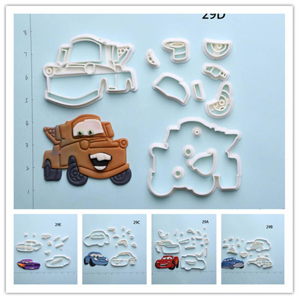 Cartoon Cars Cookie Cutter Set Custom Made 3D Printed Fondant ...