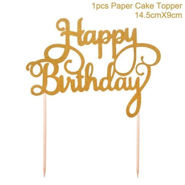 1PC Gold Happy 30th Birthday Cake Topper
