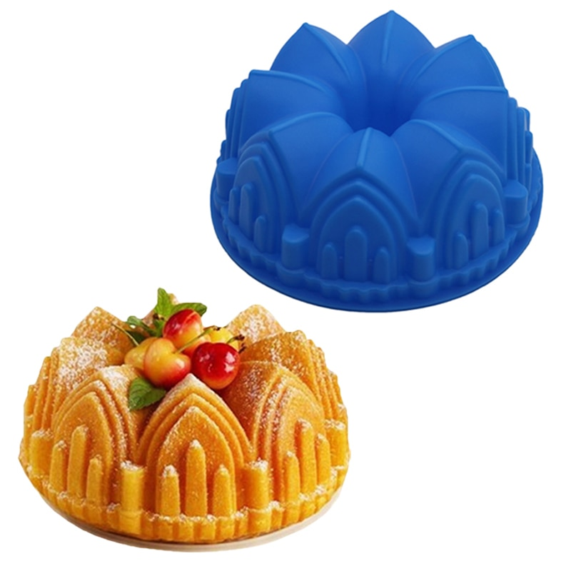 Moule A Gateau Baking Pan Large Crown Shaped Silicone Cake Mold 3d