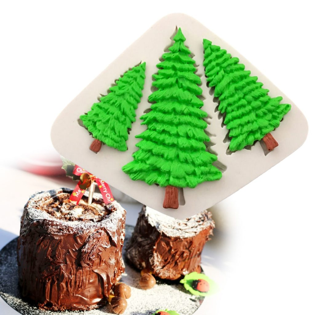 Bake N Cake Tools 3 Hole Christmas Tree Shaped Silicone Mold Cake Decoration Fondant Cookies Tools 3d Silicone Mould Kitchen Diy Tools