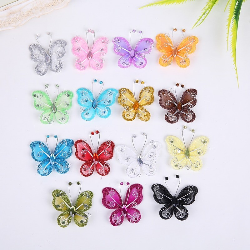 BAKEnCAKE Tools Nylon Butterfly Decoration Wedding Decorations Butterflies Home