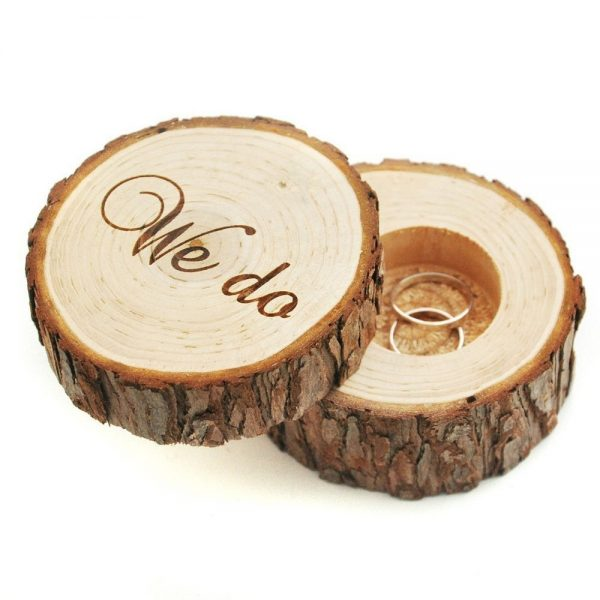 Bake N Cake Tools Rustic Wedding Ring Bearer Box Personalized