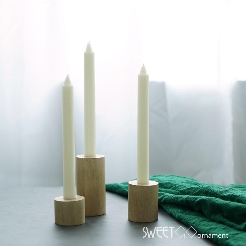 BAKEnCAKE Tools Wood Candle Holders Sets 3pcs Home Decorative