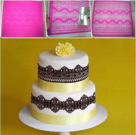 BAKE\'n\'CAKE Tools Chantilly Cake Lace Mold for Wedding Cake ...