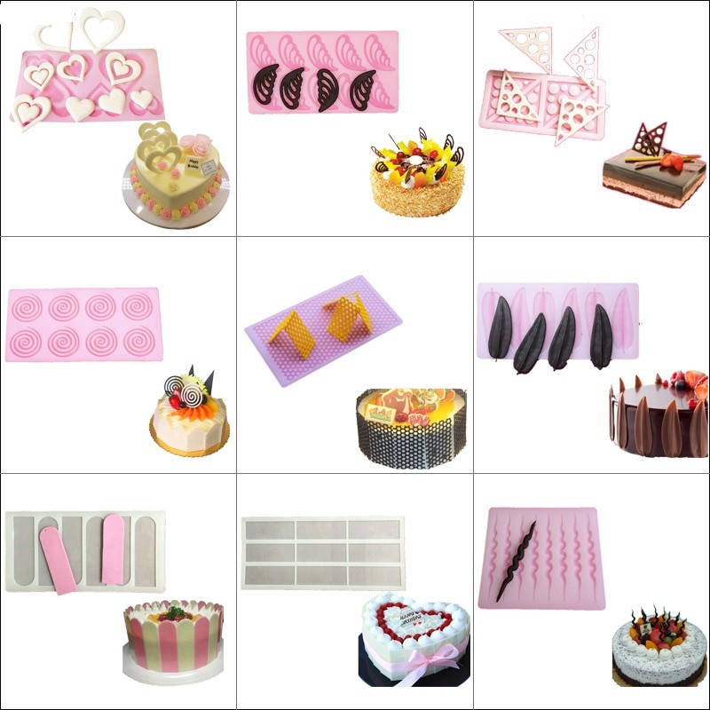 Heart Design Silicone Molds Fondant Cake Chocolate Durable Mold for the Kitchen