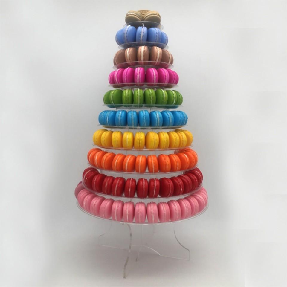 Transhome Cupcake Stand Macaron Tower 4/6/10-layer Macaron ...