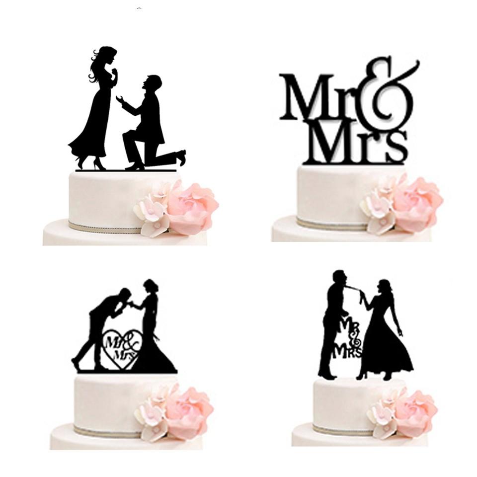 7663c4e718 1pcs Mr Mrs Wedding Cake Topper Wedding Decoration Acrylic Cake Toppers  Bride Groom Decoration Marriage Anniversary
