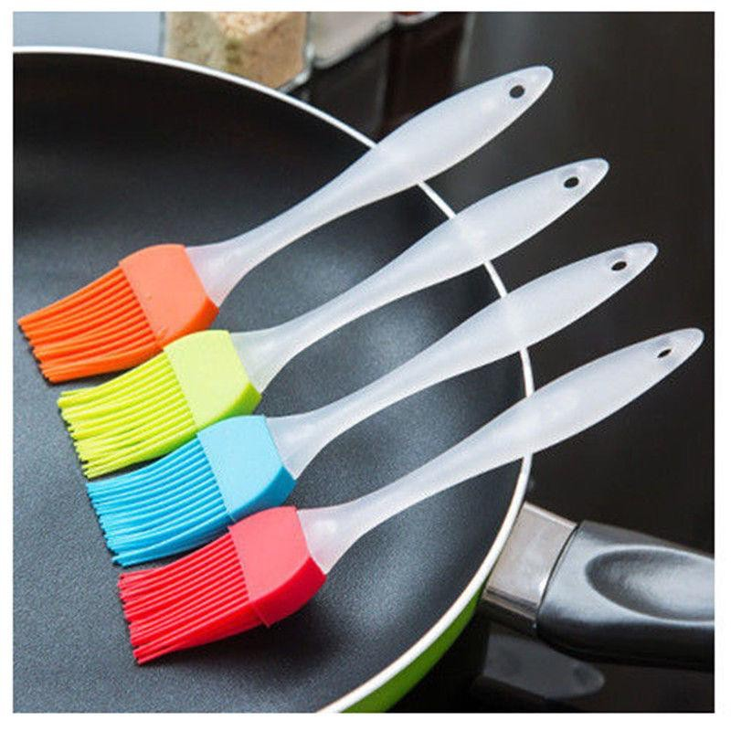 6PCS Baking BBQ Basting Brush Bakeware Pastry Bread Silicone Cooking Oil New