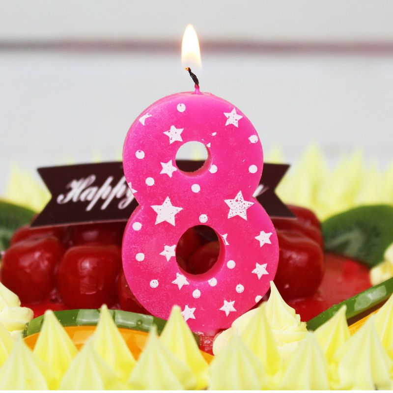 NUMBER AGE ROSE GOLD GLITTER HAPPY BIRTHDAY CANDLES CAKE TOPPER DECORATION 0-9